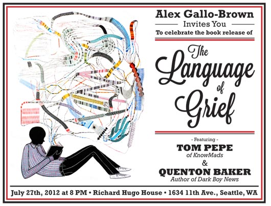 The Language of Grief book release party invitation