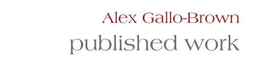 Alex Gallo-Brown: published work